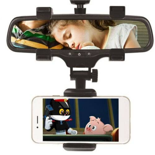 Universal 360° Car Rearview Mirror Mount Stand Holder Cradle Car Accessories