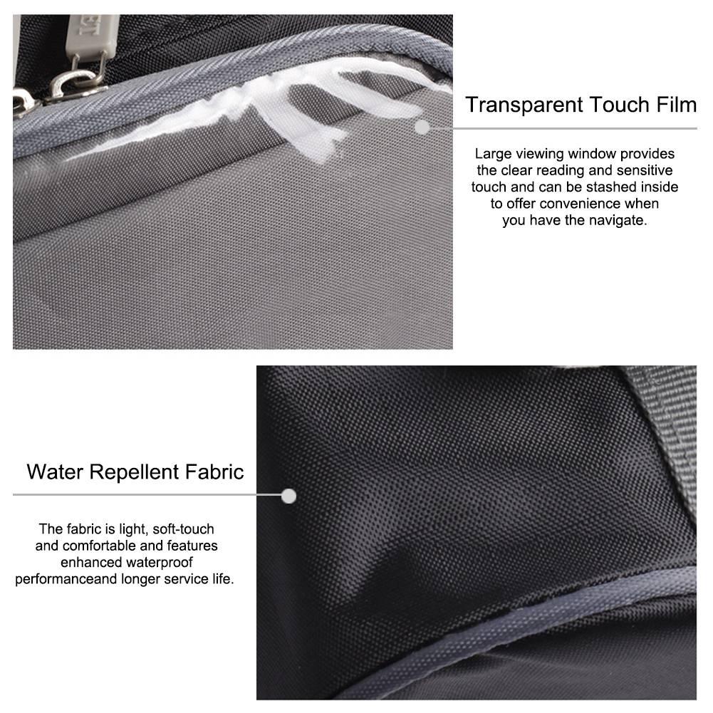 Universal Black Waterproof Motorcycle Bag Motorcycle Magnet Tank Bag Motorcycle Front Windshield Bag Handlebar Storage Container