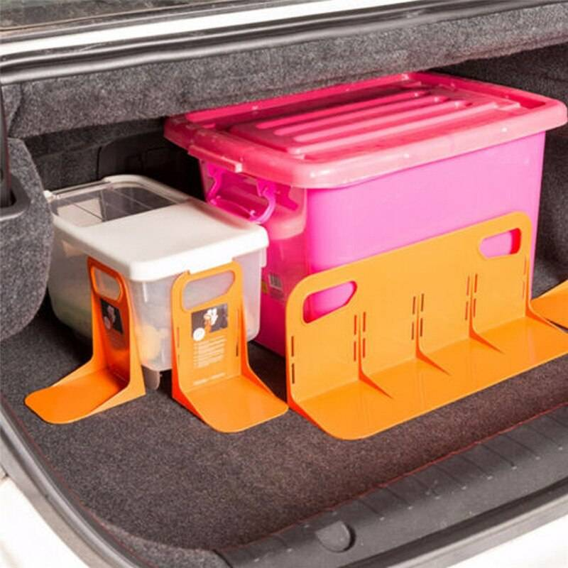 Car Trunk Storage Baffle Multifunction Storage Box Fixed Holder Stand PP Handle Stuff Storage Protection Stayhold for Drink Food Car Accessories