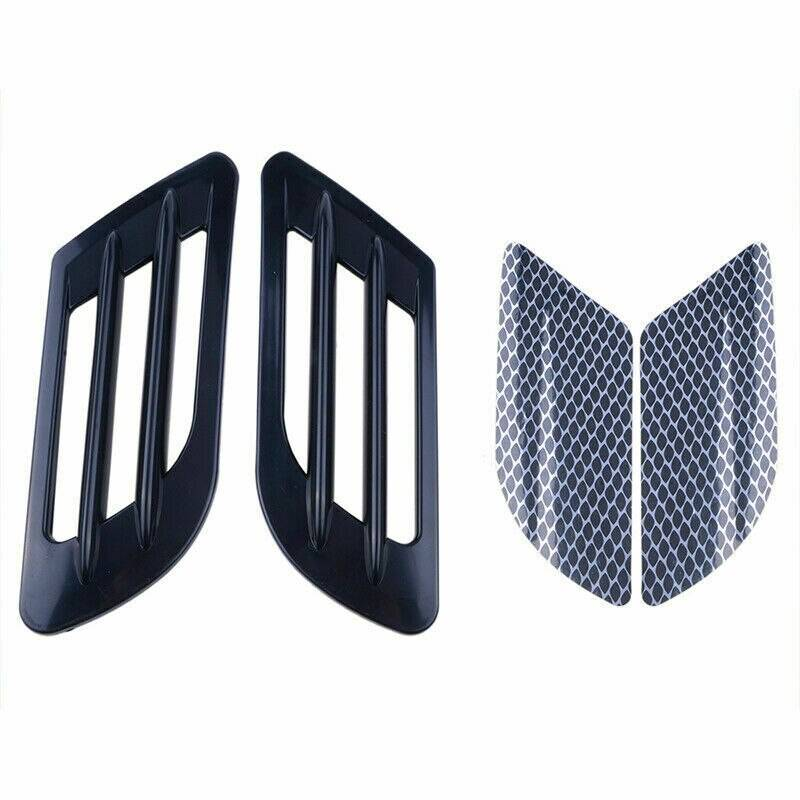 2Pcs/Set High Quality Car Side Air Flow Vent for Fender Hole Cover Intake Grille Duct Decoration ABS Plastic Sticker Car Accessories