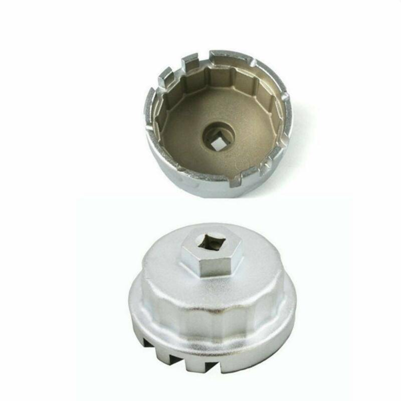 1/2 Square Steel 64mm-65mm Oil Filter Wrench Cap Housing Tool Remover 14 Flutes Universal For Lexus Toyota Camry Corolla Rav4