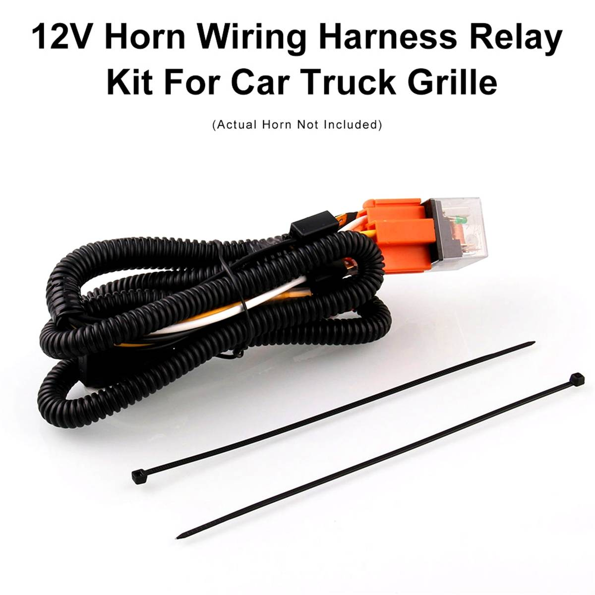 universal 12V Horn cable Relay For Grille Mount Blast Tone Horns motorcycle horn wire Wiring Harness Kit Car Truck Relay Fuse