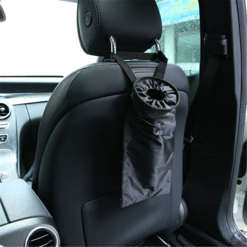 Portable Car Seat Back Garbage Bag Hanging Car Auto Trash Can Rubbish Container Leak-proof Dust Holder Case Box Car Styling