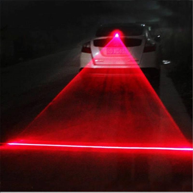 Car LED Laser Fog Light Vehicle Anti-Collision Taillight Brake Warning Lamp New Alarm Lamp