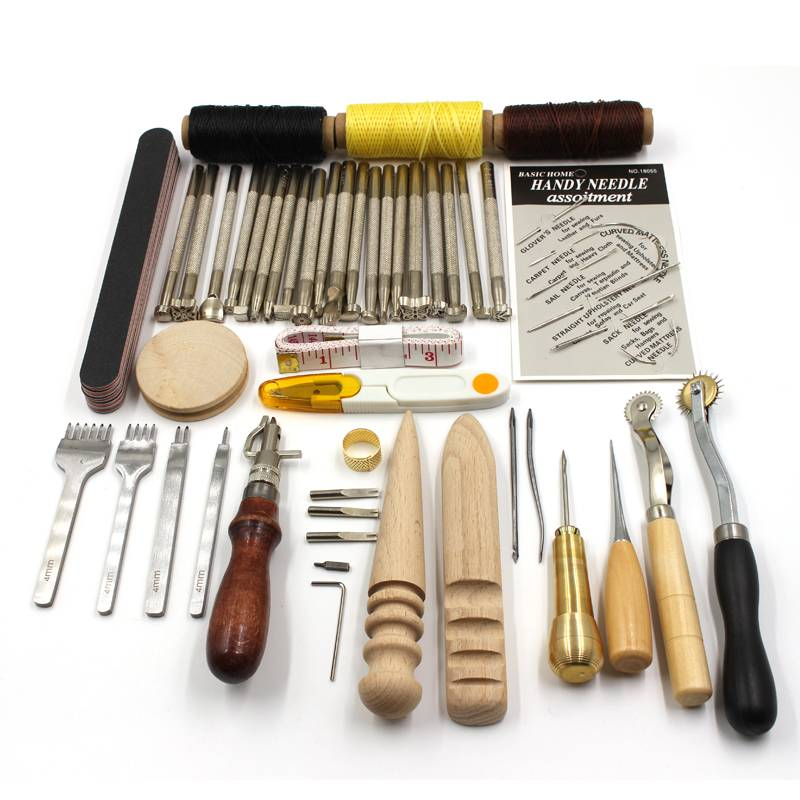 Carving Drilling Leather Tools craft and Sewing Set