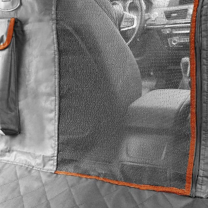 Dog's Contrast Trim Car Seat Cover Car Accessories