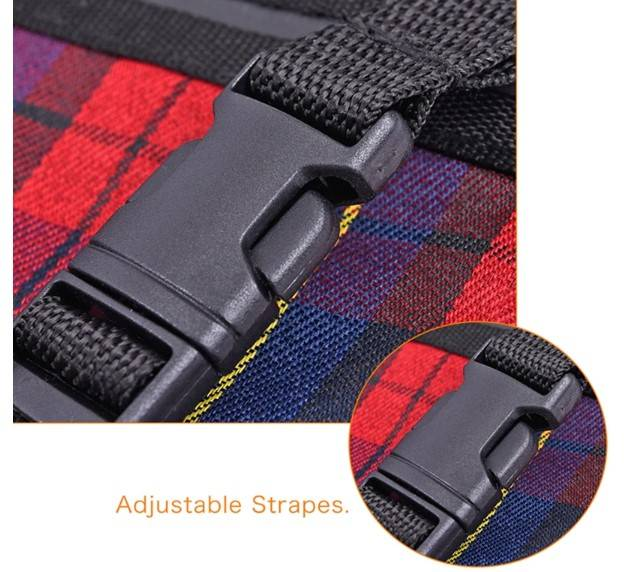 Dog's Plaid Pattern Car Seat Cover Car Accessories