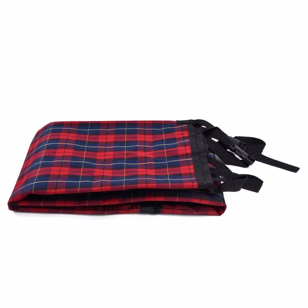 Dog's Plaid Pattern Car Seat Cover