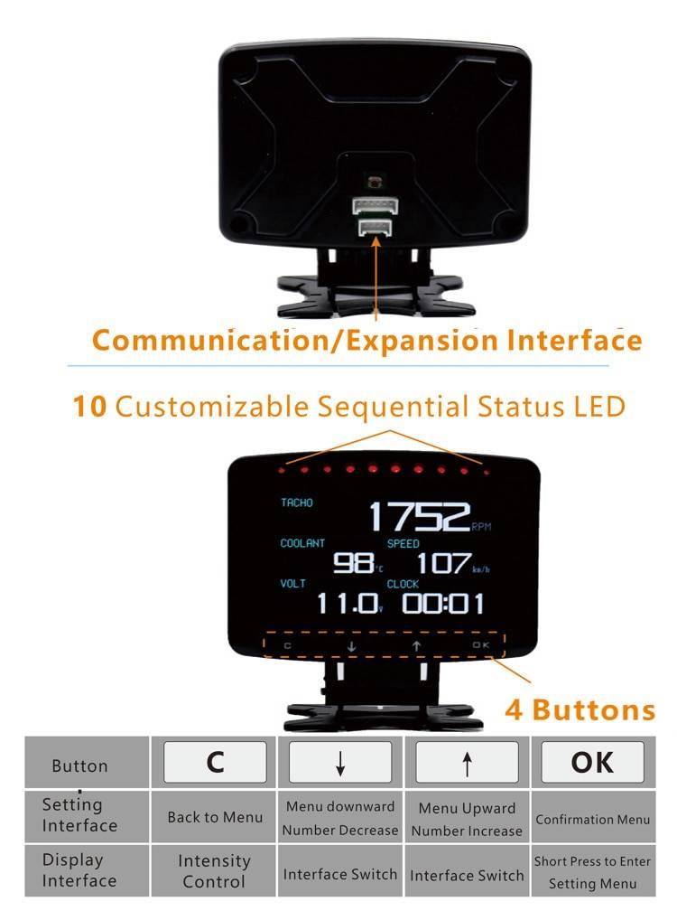 Multifunctional Smart Car HUD Display