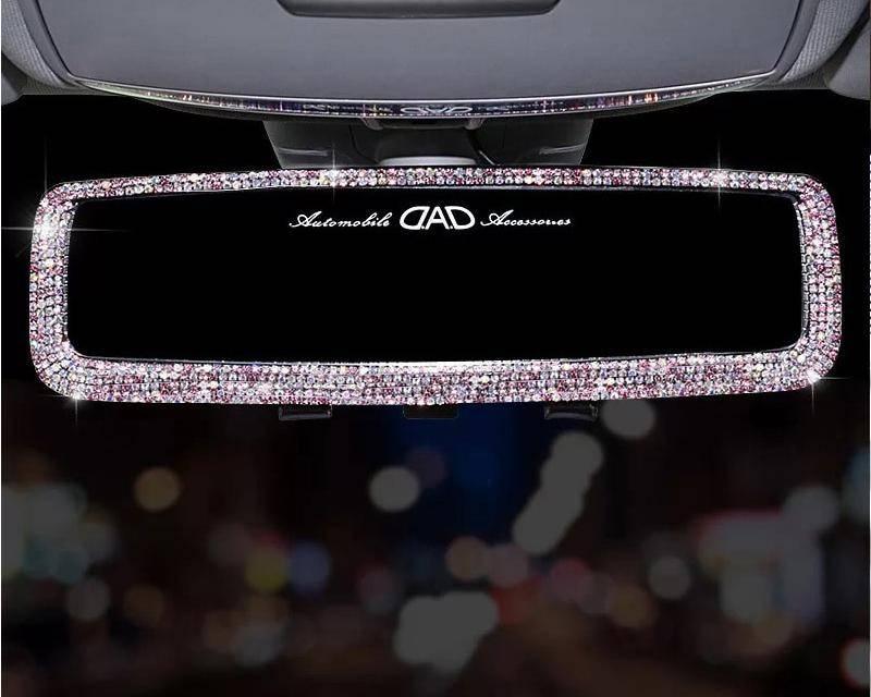 Rhinestone Car Rearview Mirror
