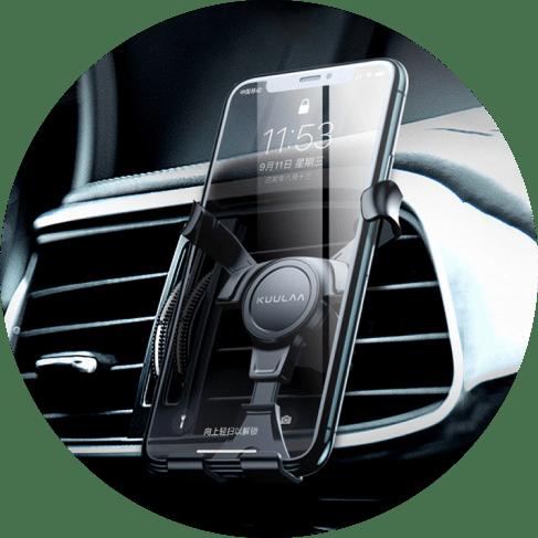 360 Degree Triangular Grip Air Vent Phone Holder Car Accessories 360-Degree