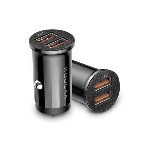 Black Quick Charge Dual USB Charger Port Car Accessories 1 charger port