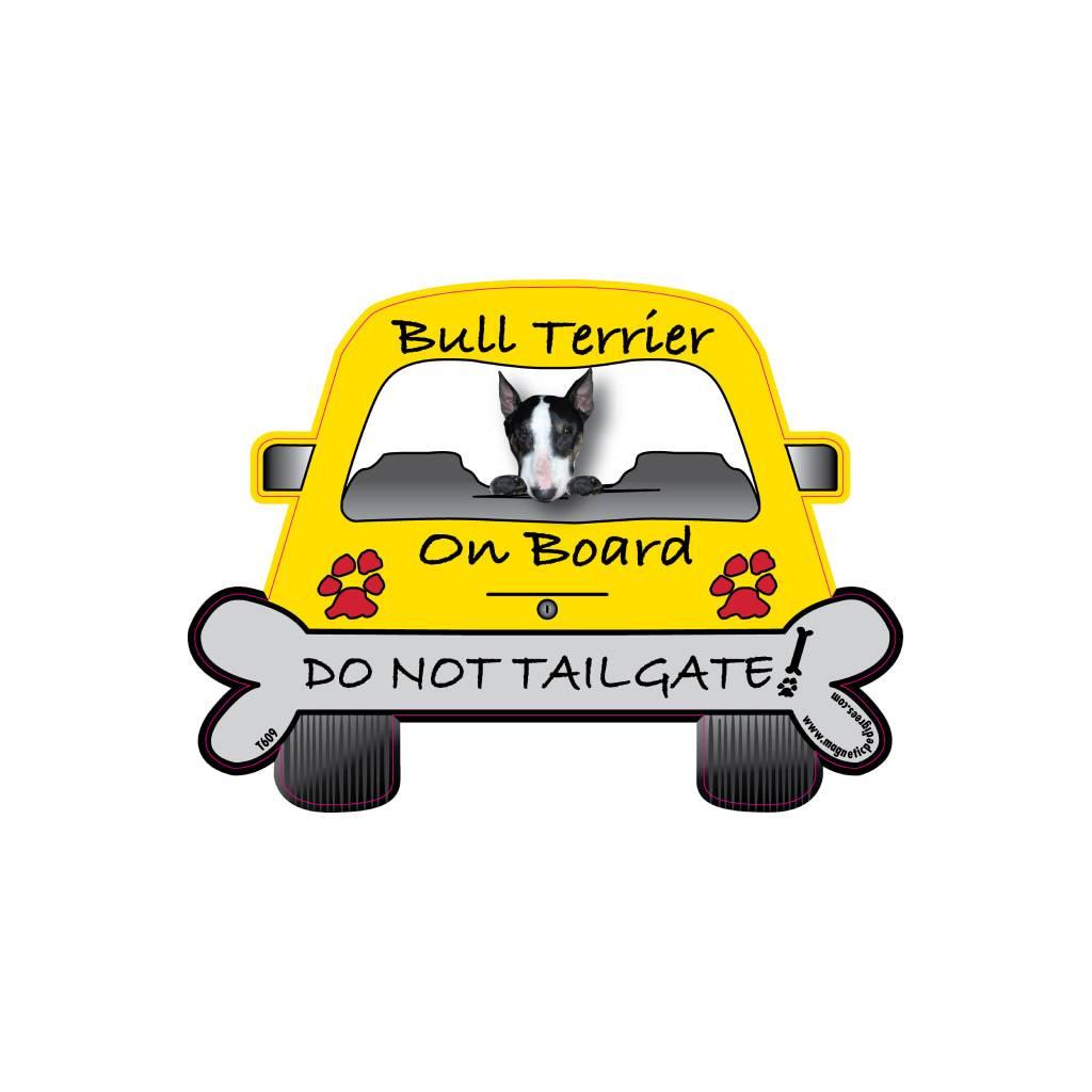 Bull Terrier On Board Car Magnet Car Accessories