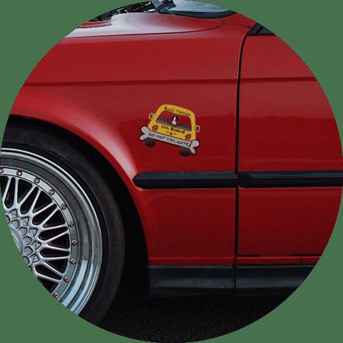 Bull Terrier On Board Car Magnet Car Accessories Bull Terrier