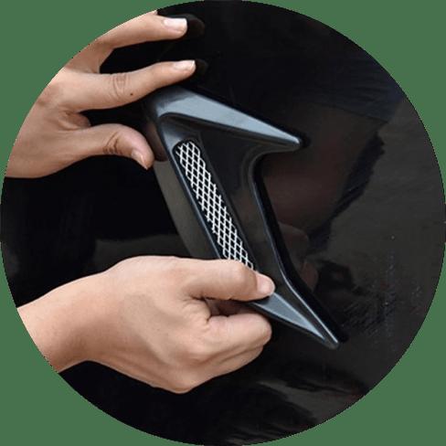 Decorative Carbon Fiber Air Vents Car Accessories Carbon Fiber