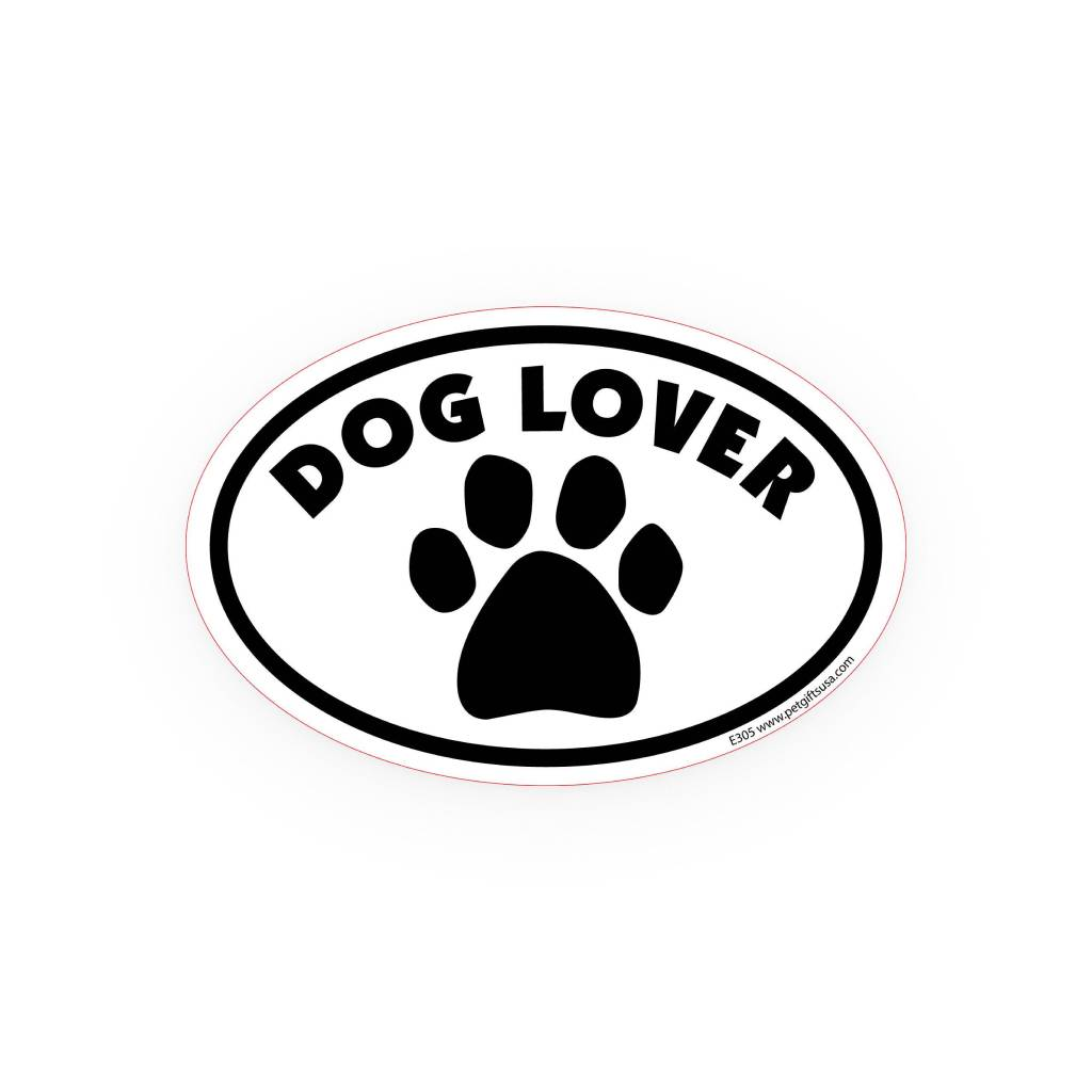 Dog Lover Oval Car Magnet Car Accessories