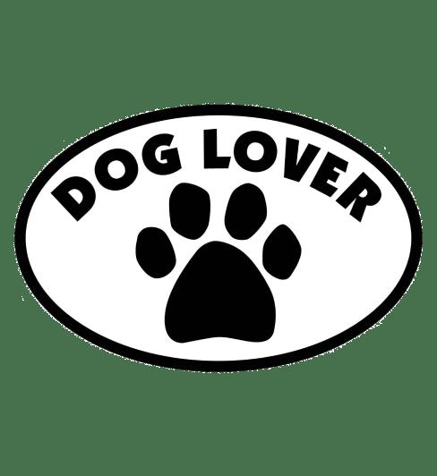 Dog Lover Oval Car Magnet Car Accessories 1 Dog Lover