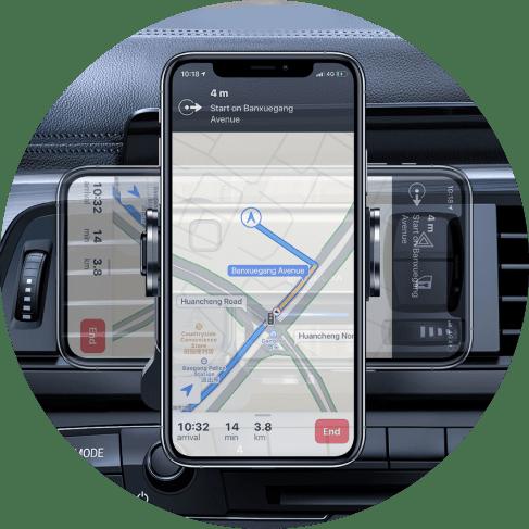 Electric Lock 360 Degree Car Phone Holder Car Accessories Car Phone Holder