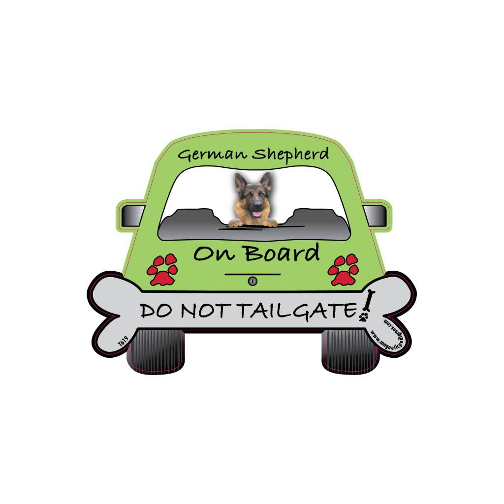 German Shepherd On Board Car Magnet Car Accessories