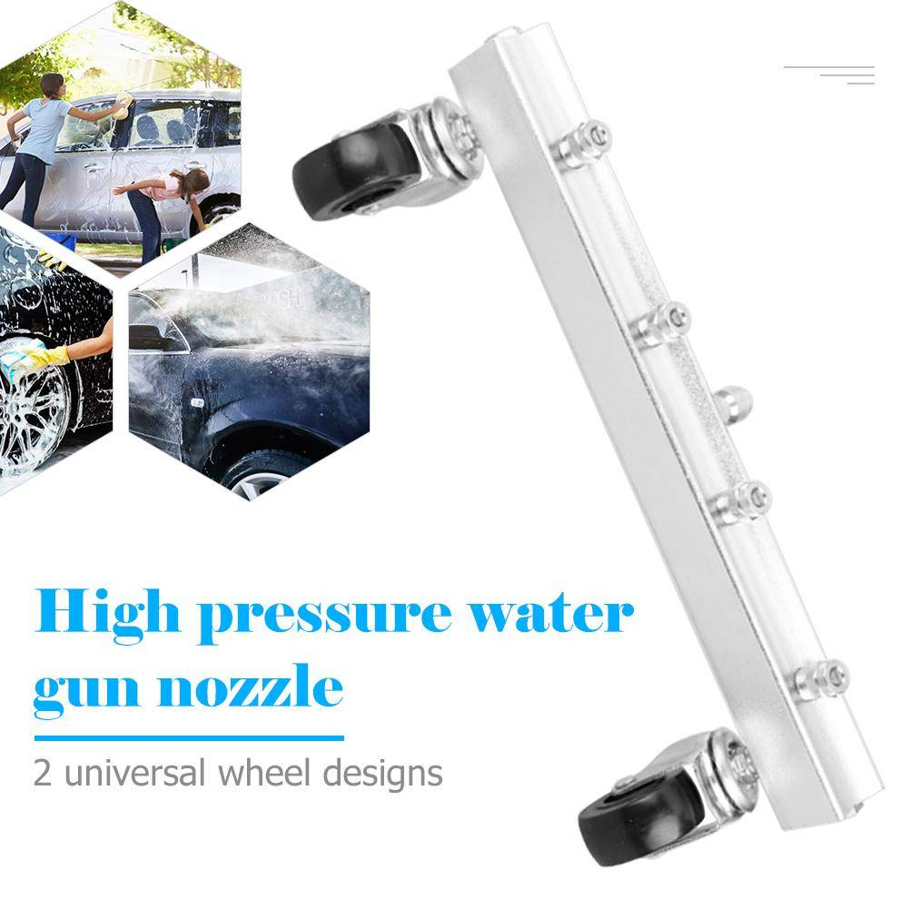 High Pressure Car Washer 4 Nozzle Auto Undercarriage Chassis Cleaner Water Gun Ground Washing Broom With 1/4