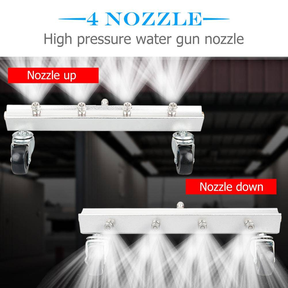 High Pressure Car Washer 4 Nozzle Auto Undercarriage Chassis Cleaner Water Gun Ground Washing Broom With 14 Connector Ca 10 Undercarriage Car Washing