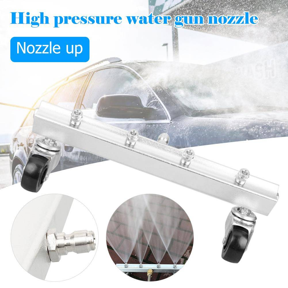 High Pressure Car Washer 4 Nozzle Auto Undercarriage Chassis Cleaner Water Gun Ground Washing Broom With 14 Connector Ca 11 Undercarriage Car Washing